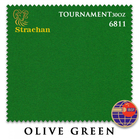 "Сукно ""Milliken Strachan Snooker"" 6811 Tournament 30 oz 193 см.Olive Green"