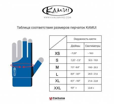 "Перчатка ""Kamui Quickdry"" M синяя"