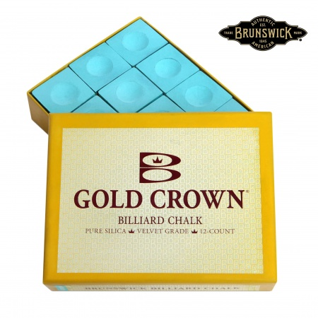 "Мел ""Brunswick Gold Crown"" green 12шт."