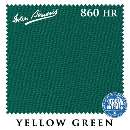 "Сукно ""Iwan Simonis HR"" 860 198см.Yellow green"