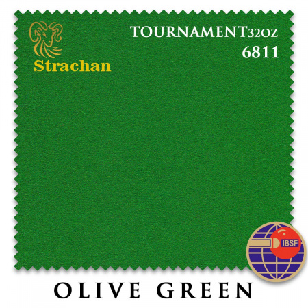 "Сукно ""Milliken Strachan Snooker"" 6811 Tournament 32 oz 193 см.Olive Green"